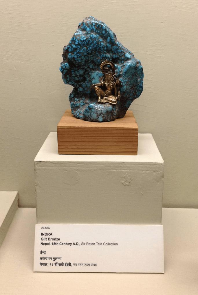 Indra as Gilt Bronze