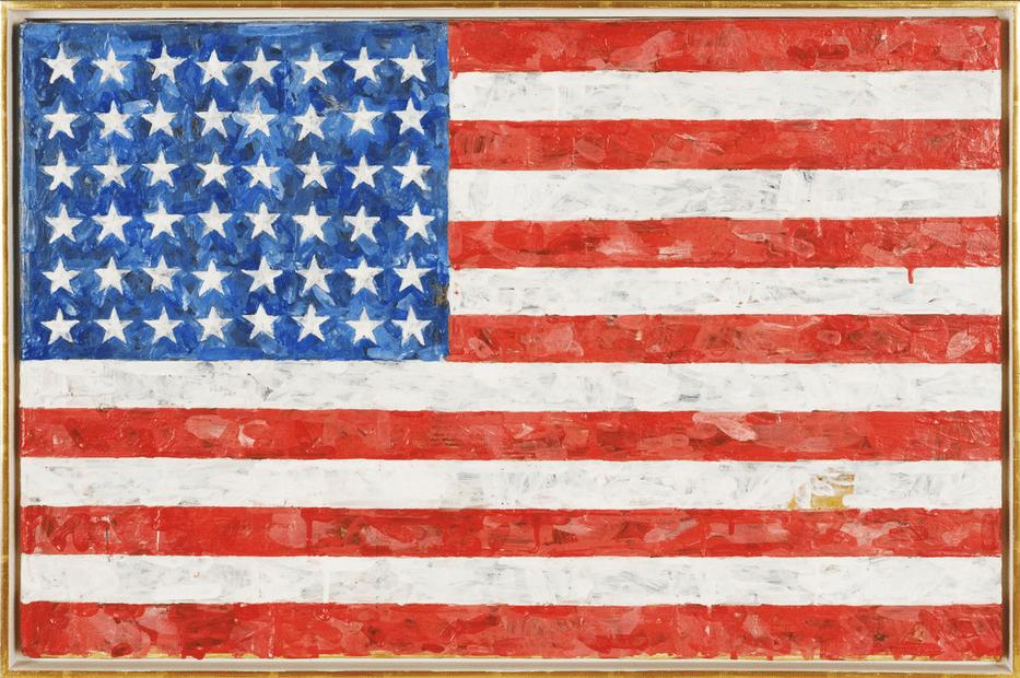 Painting that Jasper Johns gave to Michael Crichton