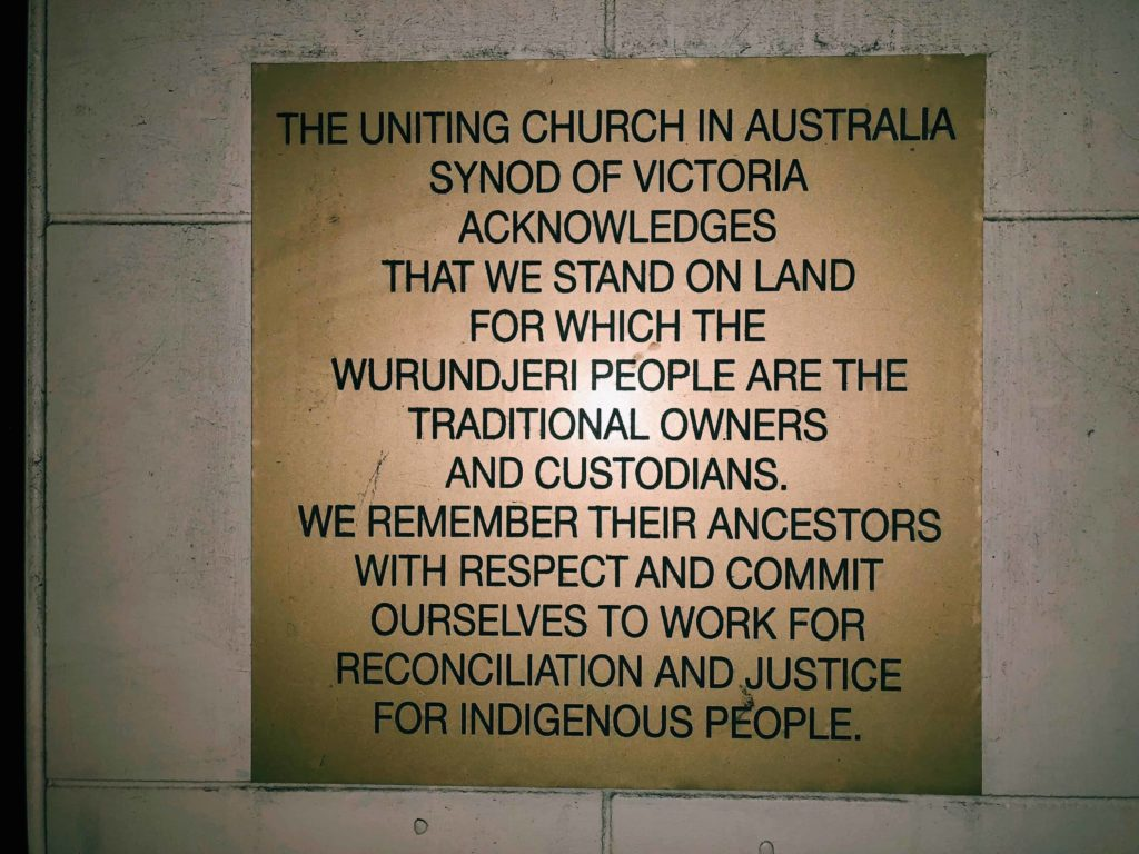 We stand on land for which the people are the traditional owners and custodians