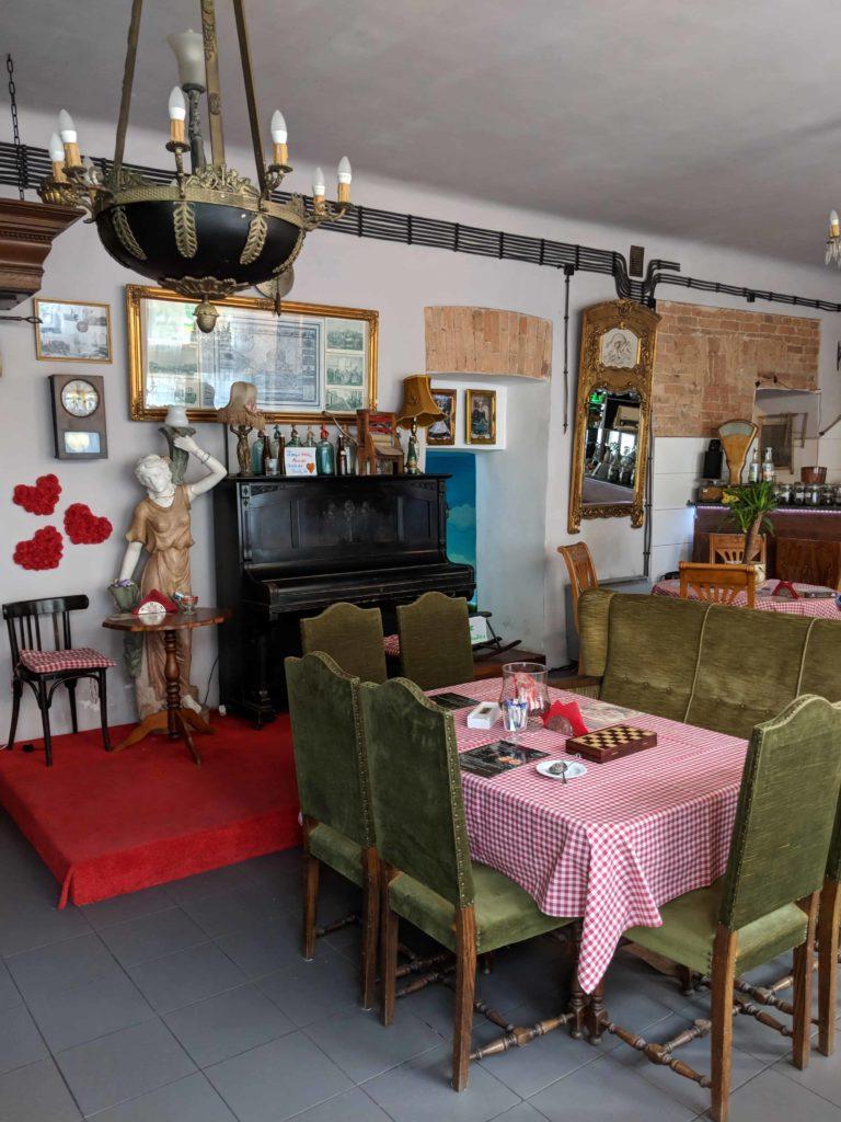 Interior of a restaurant in Warsaw Poland