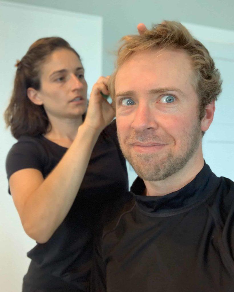Quarantine haircut Nick Gray